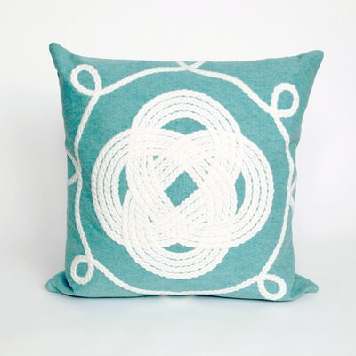 Clarkstown Ornamental Knot Throw Pillow Color: Navy