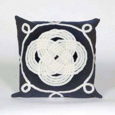 Clarkstown Ornamental Knot Throw Pillow Color: Aqua