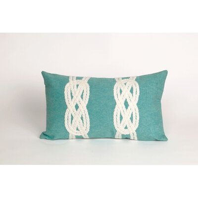 Rexford Double Knot Lumbar Pillow Color: Aqua