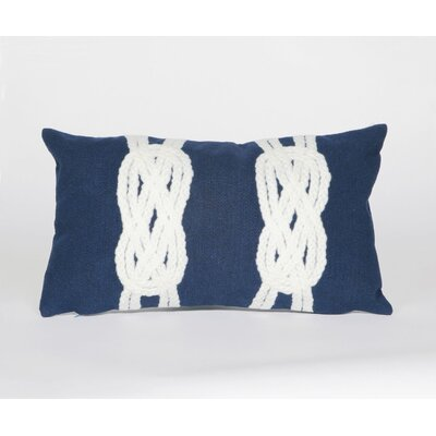 Clarkstown Double Knot Lumbar Pillow Color: Navy