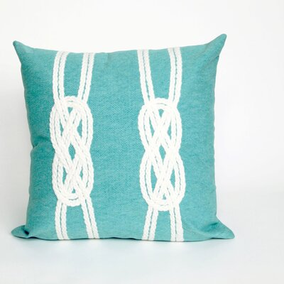 Clarkstown Double Knot Throw Pillow Color: Aqua