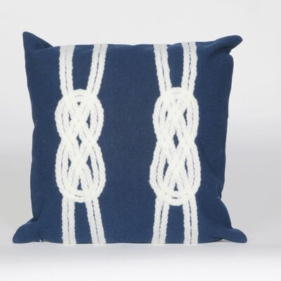 Rexford Double Knot Throw Pillow Color: Navy