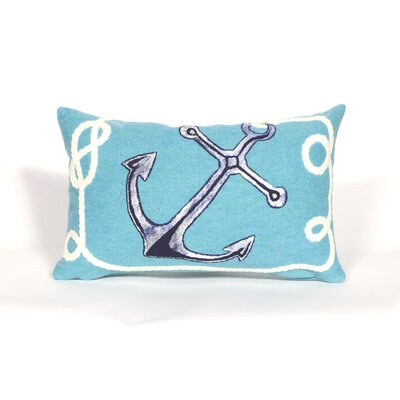 Rexford Marina Lumbar Pillow Color: Aqua