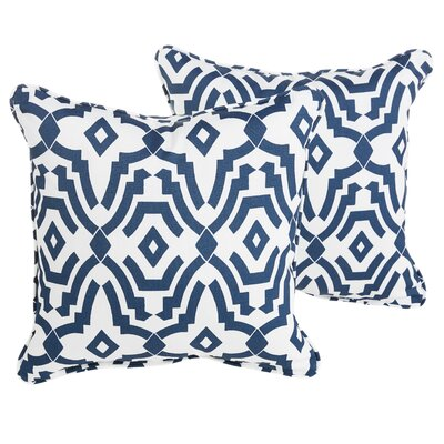 Audina Indoor/Outdoor Throw Pillow Size: 22 H x 22 W x 6 D, Color: Navy