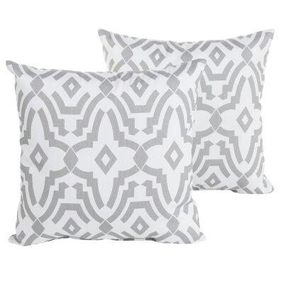 Audina Geometric Indoor/Outdoor Throw Pillow Size: 22 H x 22 W x 6 D, Color: Gray