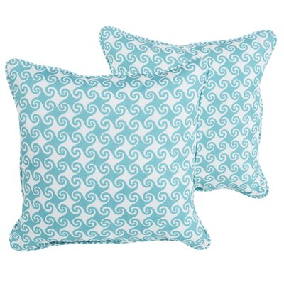 Estelle Waves Indoor/Outdoor Throw Pillow Size: 22 H x 22 W x 6 D