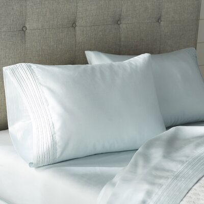 Holmes 1000 Thread Count 4 Piece Sheet Set Color: Misty Blue, Size: California King