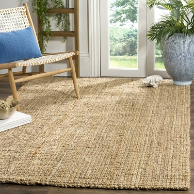 Richmond Hand-Woven Brown Area Rug Rug Size: Round 7