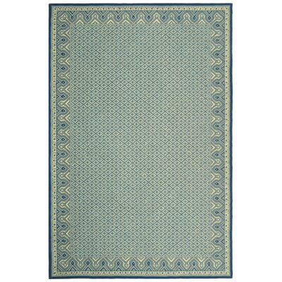 Robertson Ivory/Light Blue Rug Rug Size: Rectangle 56 x 86