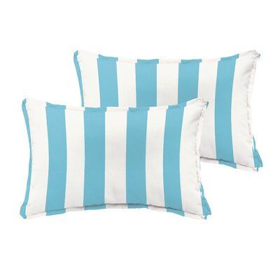Fitzsimmons Flange Stripe Indoor/Outdoor Lumbar Pillow