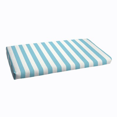 Stripe Outdoor Bench Cushion Size: 3 H x 60 W x 19 D