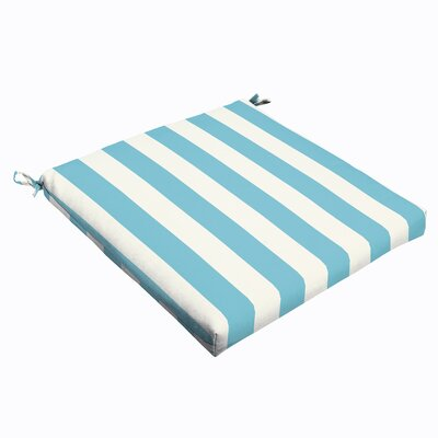Stripe Outdoor Dining Chair Cushion Size: 2.5 H x 19 W x 19 D