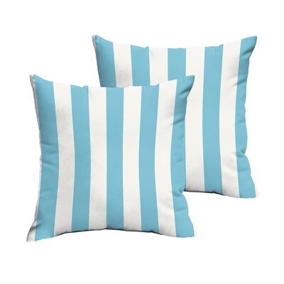 Fitzsimmons Stripe Indoor/Outdoor Throw Pillow Set Size: 18 H x 18 W x 6 D