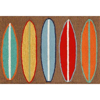 Shediac Surfboards Area Rug Rug Size: 5 x 76
