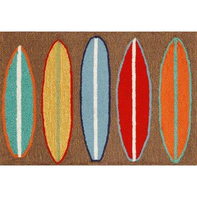 Shediac Surfboards Area Rug Rug Size: 2 x 3