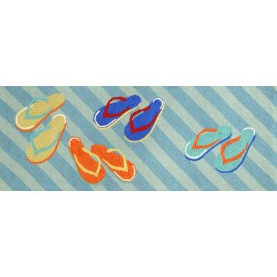 Shediac Flip Flops Area Rug Rug Size: Runner 23 x 6