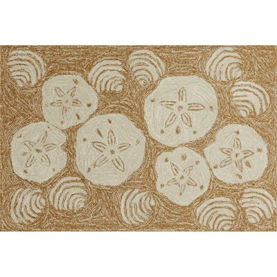 Winifred Natural Shell Toss Indoor/Outdoor Area Rug Rug Size: 36 x 56