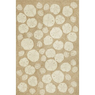 Winifred Natural Shell Toss Indoor/Outdoor Area Rug Rug Size: Rectangle 5 x 76