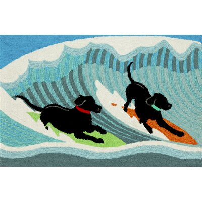 Shediac Surfing Dogs Doormat