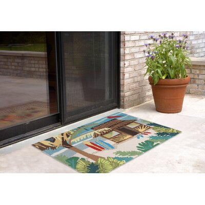 Shediac Tiki Hut Multi Indoor/Outdoor Area Rug Rug Size: 26 x 4