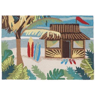 Shediac Tiki Hut Multi Indoor/Outdoor Area Rug Rug Size: 2' x 3'