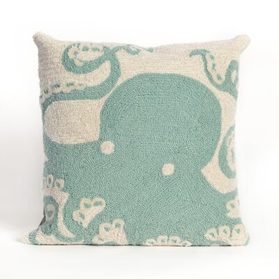 Shediac Octopus Throw Pillow Color: Blue