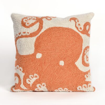 Shediac Octopus Throw Pillow Color: Orange