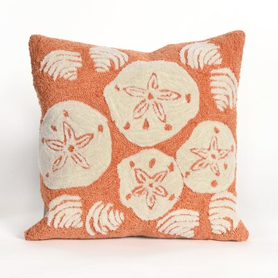 Shediac Shell Toss Throw Pillow Color: Orange