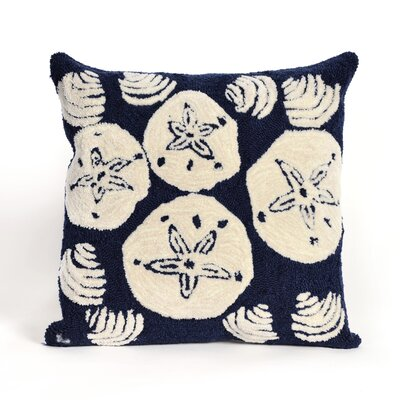 Phillip Shell Toss Throw Pillow Color: Navy