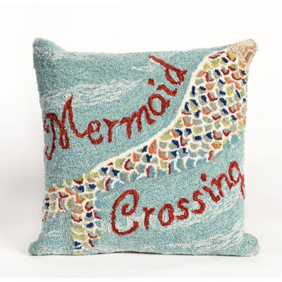 Coggins Mermaid Crossing Water Throw Pillow