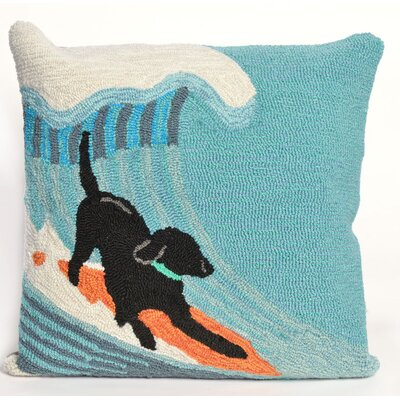 Braden Surfing Dog Ocean Throw Pillow