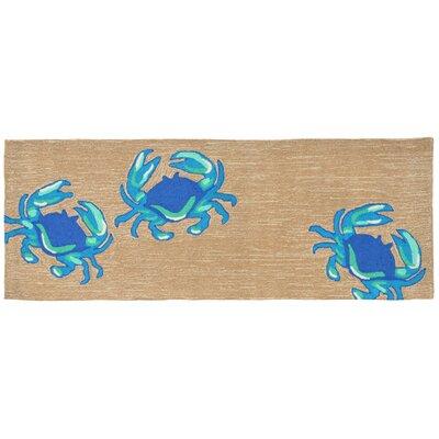 Shediac Hand-Tufted Blue Indoor/Outdoor Area Rug Rug Size: Runner 23 x 6