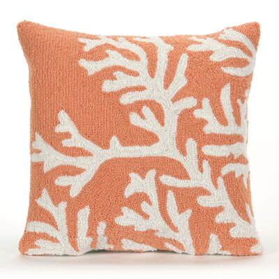 Adeliza Coral Indoor/Outdoor Throw Pillow Color: Coral