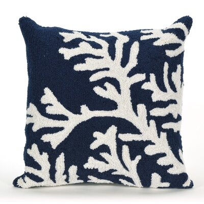 Adeliza Coral Indoor/Outdoor Throw Pillow Color: Navy