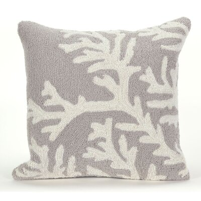 Adeliza Coral Indoor/Outdoor Throw Pillow Color: Silver