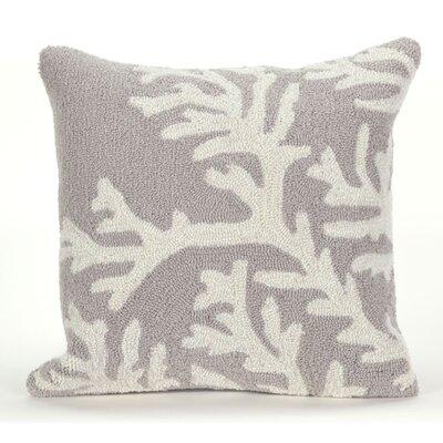 Adeliza Coral Indoor/Outdoor Throw Pillow Color: Silver