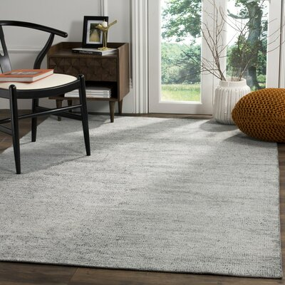 McArthur Hand-Knotted Rectangle Gray Area Rug Rug Size: 8 x 10