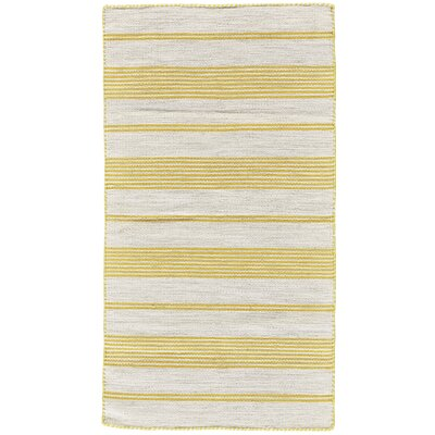 Alicea Hand-Woven Gold Area Rug Rug Size: Rectangle 2 x 3
