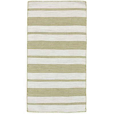 Alicea Hand-Woven Green Area Rug Rug Size: Rectangle 4 x 6