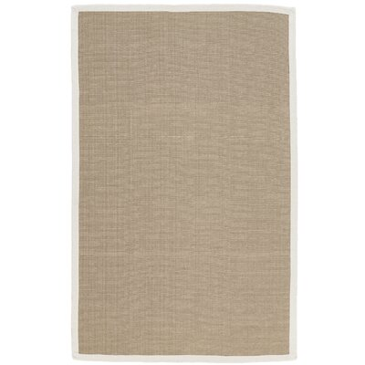 Malta Hand-Woven White Indoor/Outdoor Area Rug Rug Size: 36 x 56