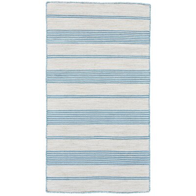 Alicea Hand-Woven Turqouise Area Rug Rug Size: Rectangle 2 x 3