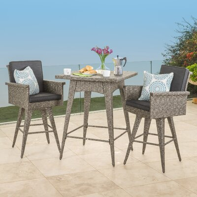 Washington 3 Piece Bar Table Set