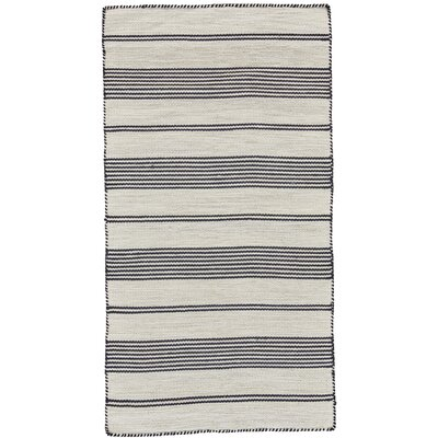 Alicea Hand-Woven Black Area Rug Rug Size: Rectangle 4 x 6
