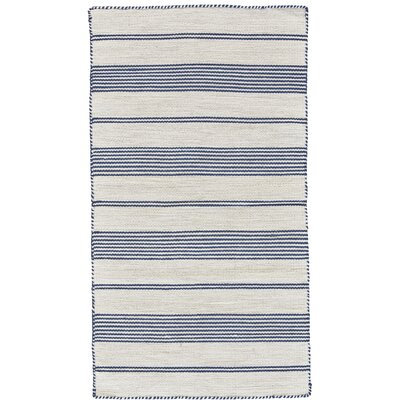 Alicea Hand-Woven Navy Area Rug Rug Size: Rectangle 2 x 3