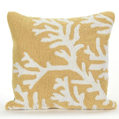 Shediac Coral Indoor/Outdoor Throw Pillow Color: Yellow