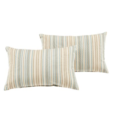 Cavisson Striped Indoor/Outdoor Sunbrella Lumbar Pillow