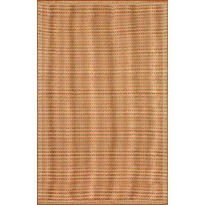Clatterbuck Terra/Ivory Texture Indoor/Outdoor Area Rug Rug Size: Rectangle 111 x 211