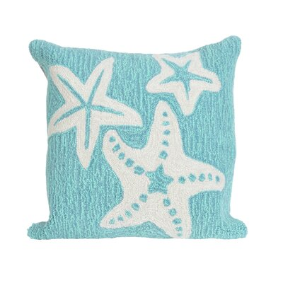 Torino Starfish Indoor/Outdoor Throw Pillow Color: Blue