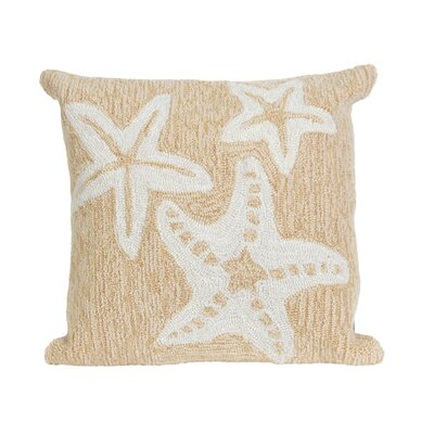 Torino Starfish Indoor/Outdoor Throw Pillow Color: Natural