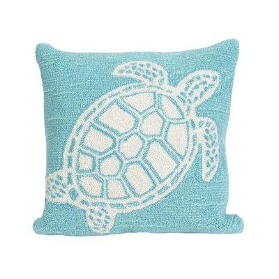 Clayborn Turtle Indoor/Outdoor Throw Pillow Color: Blue